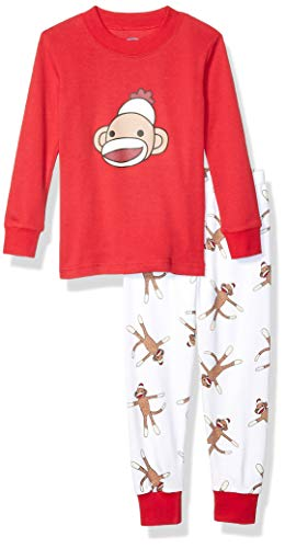 Kids Sock Monkey Pajamas - Sara's Prints Little Boys' 100% Cotton