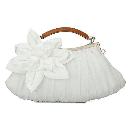 YYW Evening Bag - Cartera de mano para mujer blanco