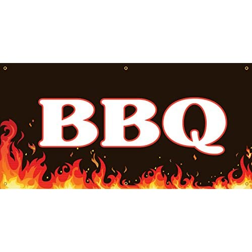 Nice BBQ Full Color Vinyl Banner. Ready To Use for cheap