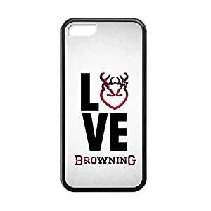 Diycase Browning Deer Camo for iPhone 5c case cover Rubber Sides Shockproof protective with Laser 4BNJnbvQbAs Technology Printing Matte Result