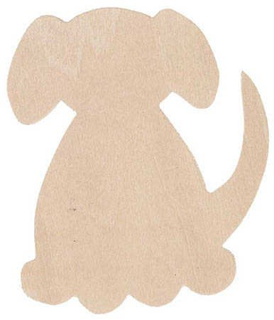 Group of 12 Unfinished Wood Dog Flat Cutouts for Spring Crafts, Creating and -
