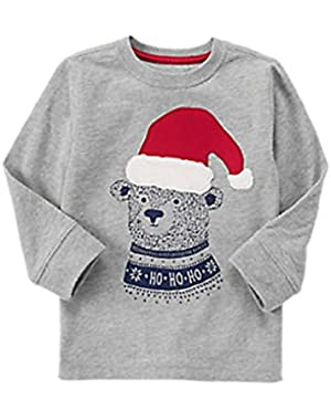 Baby Boy Santa Bear Long Sleeved Tee
