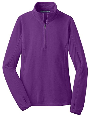 Port Authority Women's Microfleece 1/2 Zip Pullover - Amethyst Purple L224 S ()