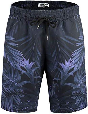 水着 メンズ ゴムウェスト 膝上丈 サイズ調整 水陸両用 速乾 通気 ハワイ ハーフパンツ 大きいサイズ