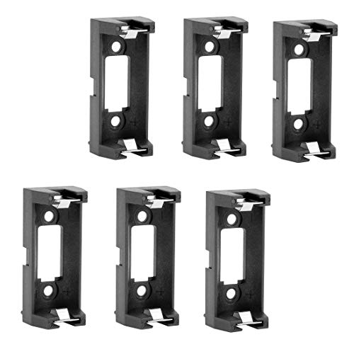 uxcell 6Pcs CR123A CR123 Lithium Battery Holder Box Clip Case w PCB Solder Mounting Lead