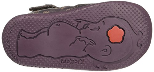 Kickers Bigor - Zapatos de primeros pasos Bebé-Niños Violet (Violet Foncé/Rose Foncé)
