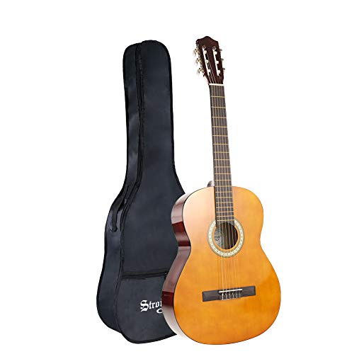 Strong Wind Classical Acoustic Guitar 39 Inch 4/4 Size 6Nylon Strings Guitar Beginner Kit for Students Children Adult