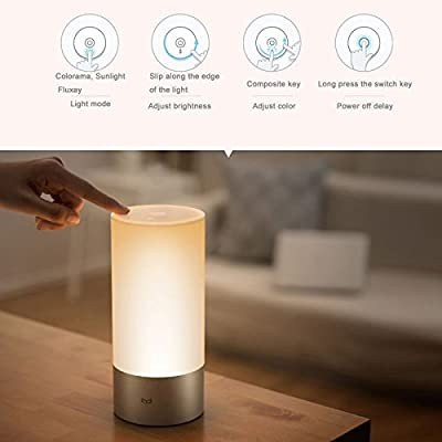 Bingirl Original Xiaomi Yeelight Bedside Lamp RGB Wireless Touch Control Art Deco J1