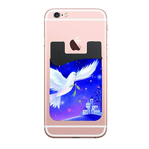 3M Adhesive Accents Christmas Dove Cell Phone Wallet Case Compatione with iPhone Xs Xr 7 8 Plus ()