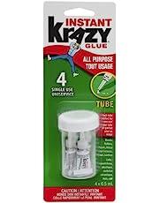 Krazy Glue All-Purpose Instant Glue Singles, 0.5ml, Pack of 4 (6155010582)