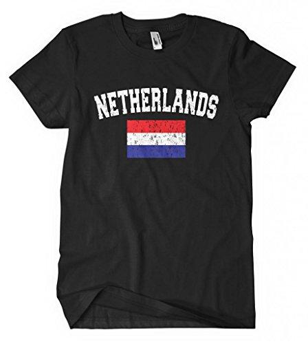 Cybertela Faded Netherlands Flag Men's T-shirt