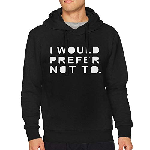 Man I Would Prefer Not to Casual Style Drawstring Hooded XL Black ()
