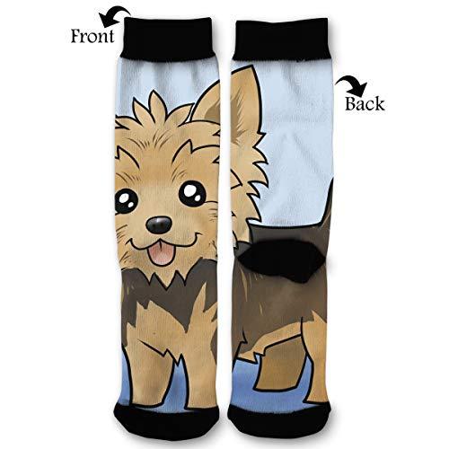 EKUIOP Socks Cute Yorkie Dog Funny Fashion Novelty Advanced Moisture Wicking Sock for Man -
