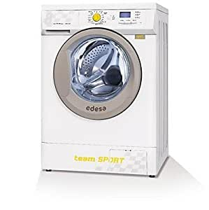 Edesa SPORT-L1248C Independiente Carga frontal 8kg 1200RPM A+++ Rojo, Color blanco - Lavadora (Independiente, Carga frontal, Rojo, Color blanco, Derecho, 8 kg, 1200 RPM)