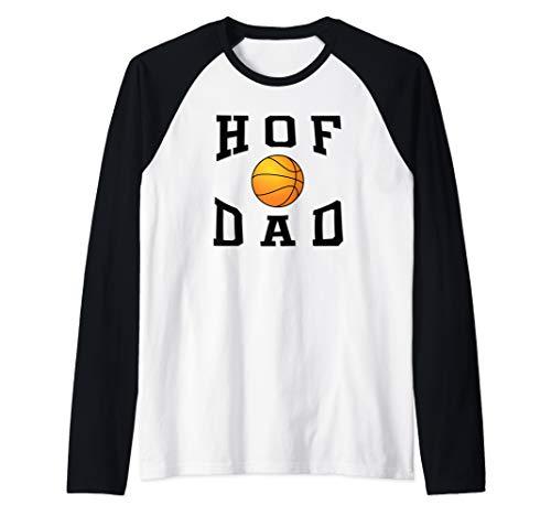 (Mens HOF Dad Basketball Father's Day Gift Design  Raglan Baseball)