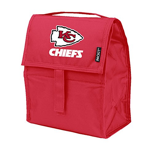 NFL Kansas City Chiefs PACKit Freezable Lunch Bag, Red