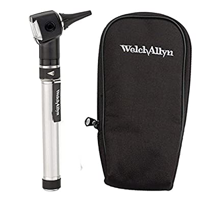 Welch Allyn Otoscope Set with AA Handle, Soft Case and 20 Specula (Batteries Included)