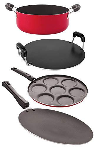Nirlon Cookware Aluminium Non Stick Gift Cooking Set CT12_RT_UP7_CS24