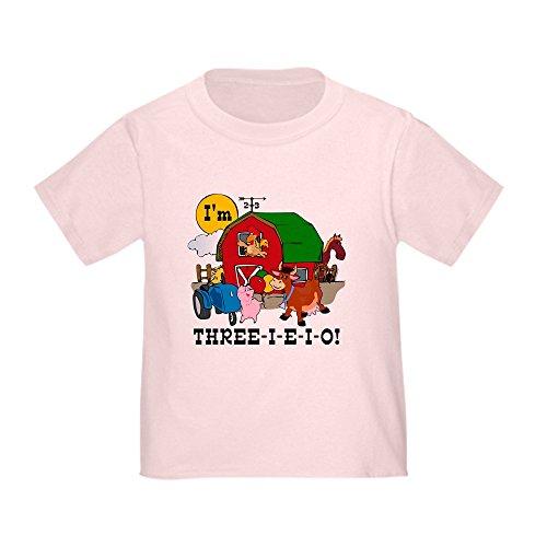 CafePress - Three-I-E-O - Cute Toddler T-Shirt, 100% Cotton -