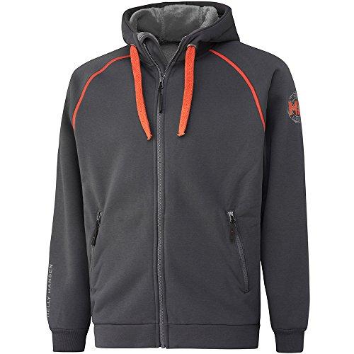 Helly Hansen Mens Chelsea Polyester Cotton Workwear Hoodie Jacket Dark Grey