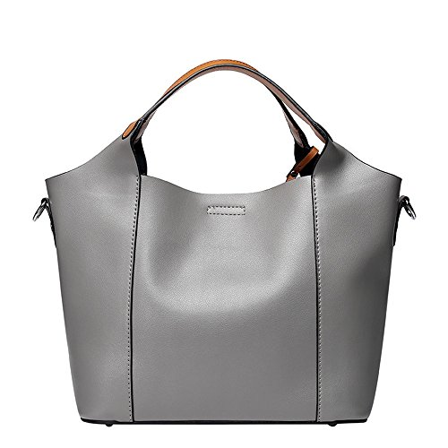 Style Handbags Winter Shopping Bag Gray Tote Lady capacity color Shoulder Casual Ladies Yamyannie Messenger Purple Leather Summer Large nxIqY6YR