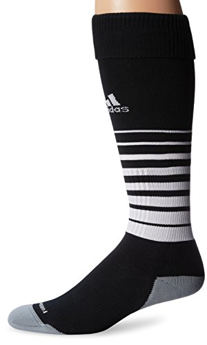 adidas Team Speed Soccer Socks (1-Pack), Black/White, Medium