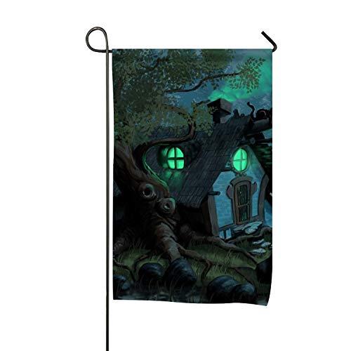 BYUII Dark Witch Halloween Fantasy Clip Art Welcome Garden Flag Vertical Outdoor and Indoor