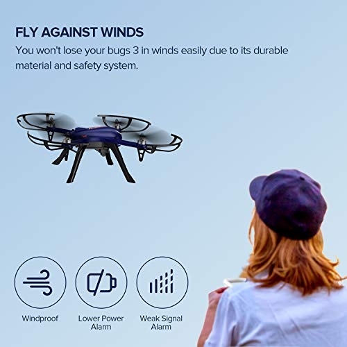 DROCON Blue Bugs 3 Brushless Motor Quadcopter Drone for Beginners and Experts - 18-20 Mins Long Working Time - 300 Meters Long Control Range -Support Gopro Xiaomi Xiaoyi 4K Camera by DROCON (Image #5)