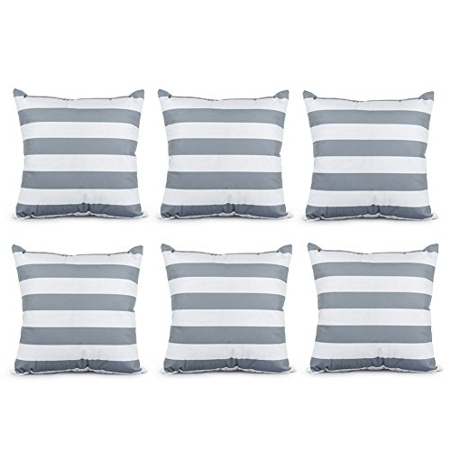 Top Finel Decorative Pillowcases 6 Stripe