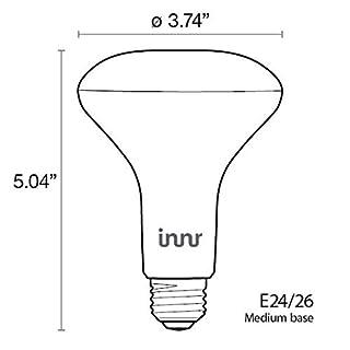 Innr Smart Bulb Smart Flood Light White BR30, Works with Philips Hue SmartThings, Alexa, Google Home (Hub Required), Dimmable Warm White LED Light Bulb, BE 220-2 (2-pack)