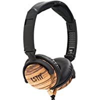 LSTN Fillmore Zebra Wood On-Ear Headphones w/ in-line Microphone, Volume Control
