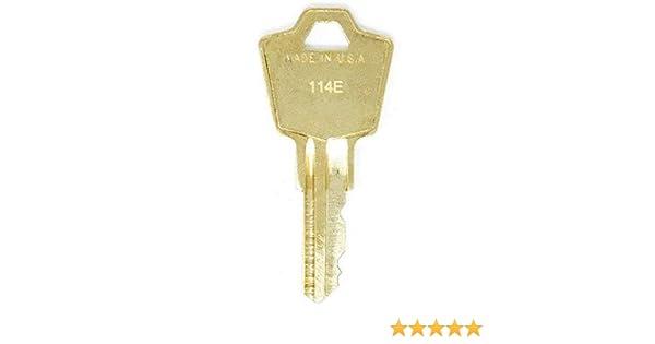 2 Keys HON 114E File Cabinet Replacement Keys