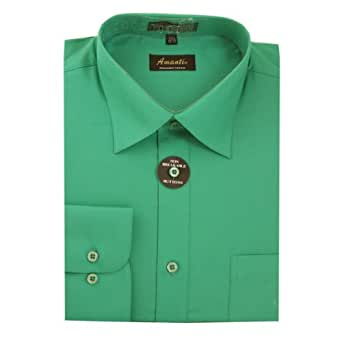 Amanti Emerald Colored Men's Dress Shirt Long Sleeve 14.5-32/33