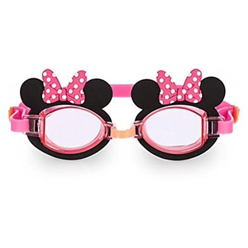 Disney Minnie Mouse Goggles for Girls,pink with Ears,polka Dot Bows,Minnie on Corners