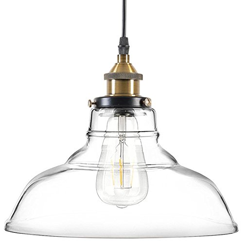 Light Society LS-C171 Classon Vintage Industrial Clear Edison Glass Pendant Lamp