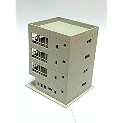 Outland Models Railway Modern 4-Story Office Building Unpainted N Scale 1:160: Toys & Games