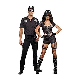 amazoncom dreamgirl womens dea secret agent cop costume clothing