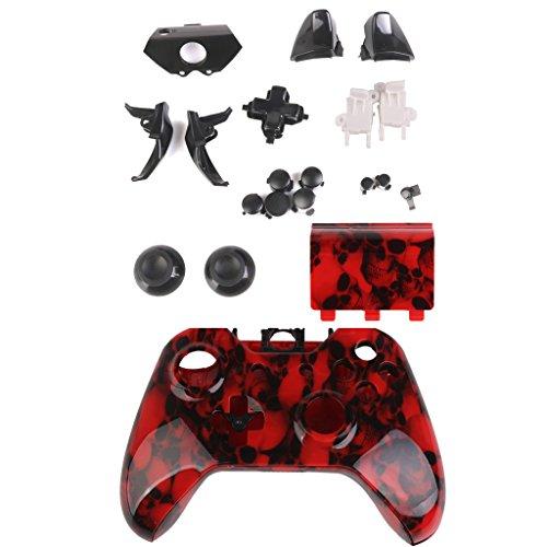 Kit Cáscara Cubierta Funda Protectora Botón Para Mando Controlador Xbox Uno Rojo