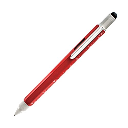 Monteverde USA One Touch Tool Stylus, 0.9 mm Pencil, Red (MV35253)