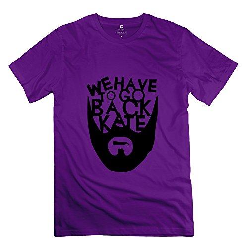 Famous Men With Beards (LOST 100% Cotton T-shirt For Men Purple XS Famous T-shirt)