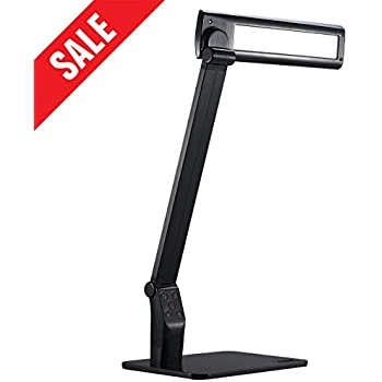 tojane led desk lamp eyecaring table lamps dimmable office lamp with usb charging
