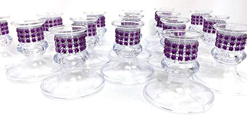16 Purple Plastic Candle Holder Favor Decorations Party Supplies Special Occasions]()