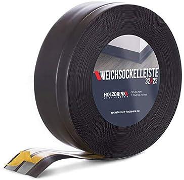 HOLZBRINK Rodapi/és flexible autoadhesivo Negro Rodapi/és flexible 32x23 mm 20 m Z/ócalo Autoadhesivo