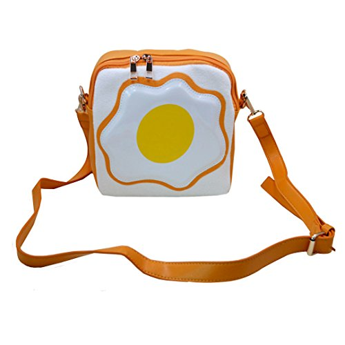 Monique Girls Women Cute Fried Egg Print Handbag Purse Mini Sling Bag Shoulder Bag Beach Travel Cross-body Bag Satchel (Target Beach Bag)