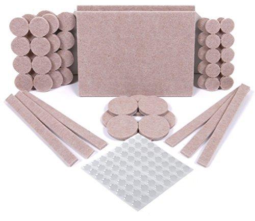 SIMALA Premium 124 Pack Furniture Pads, 60 Felt Pads & 64 Rubber Bumpers