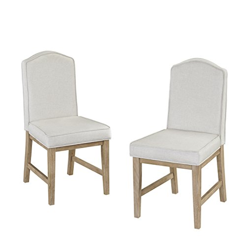 """(Home Styles 5170-812 Classic Pair of Upholstered Dining Chairs, W-18"""", d-22 ¾"""", h-37 ¼"""" ¼"""", White Wash)"""