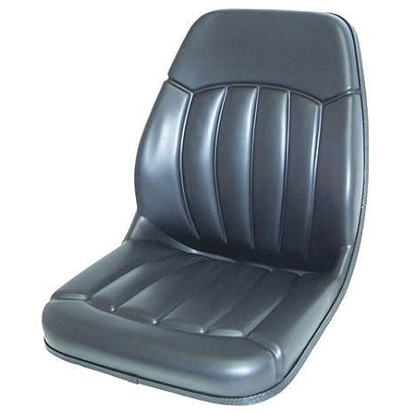 Bucket Seat Vinyl Black Case Bobcat Ford Mustang Gehl Daewoo New Holland Massey Ferguson Caterpillar JCB 430 555 420 580B 580 655 550 480 480C 590 455