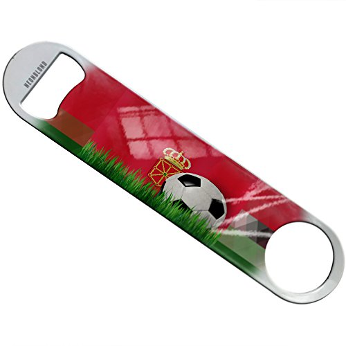 NEONBLOND Soccer Team Flag Navarre region Spain Flat Beer Bottle Opener Heavy Duty Bartender by NEONBLOND