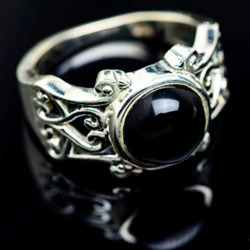 Ana Silver Co Black Onyx Ring Size 8.75 (925 Sterling Silver) - Handmade Jewelry, Bohemian, Vintage RING967153 from Ana Silver