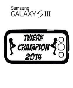 Twerk Champion 2014 Miley Mobile Cell Phone Case Samsung Galaxy S3 Black